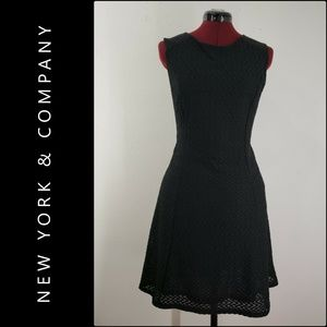 New York & Company Woman Fit & Flare Texture Dress